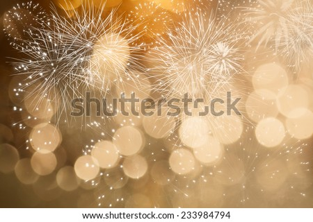 Fireworks at New Year and copy space #233984794