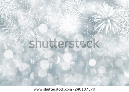 Fireworks at New Year and copy space #240187570