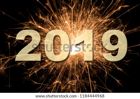 fireworks at Silvester and new year`s day 2019 #1184444968