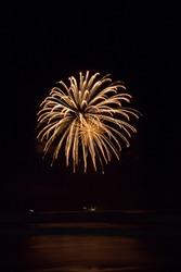 Fireworks at the Gold Coast beach