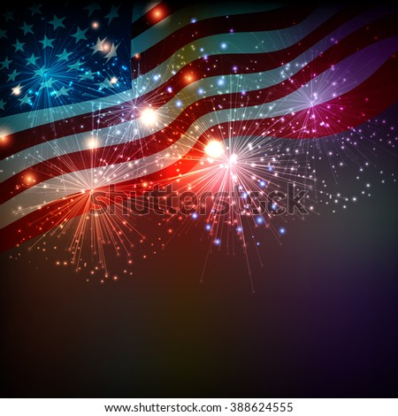 Fireworks background for 4th of July Independense Day. Fourth of July Independence Day card. Independence day fireworks. Independence day celebrate. Independence Day festive. USA Independence Day