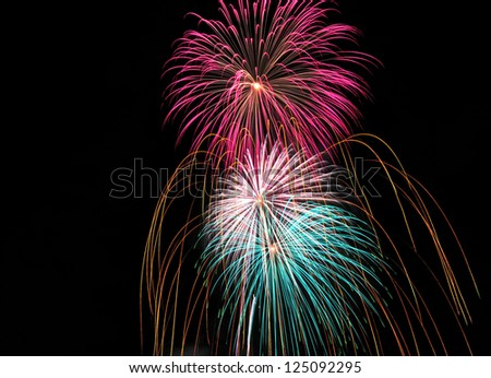 Fireworks celebration, concept freedom