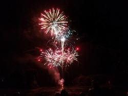 Fireworks Celebration Sprays Across the Sky