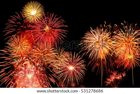 Fireworks colorful show