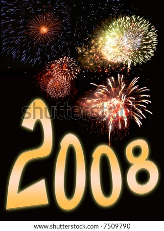 fireworks display background featuring text for new years eve