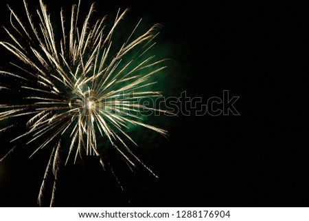 Fireworks during Silvester night. #1288176904