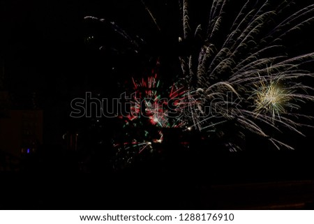 Fireworks during Silvester night. #1288176910