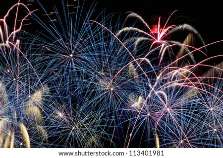 Fireworks during the New Year's celebration in the Philippines