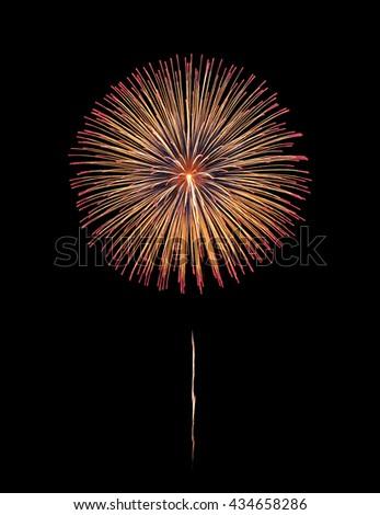 Fireworks explode, fireworks on black background, texture. Beautiful fireworks, fireworks background,isolated #434658286