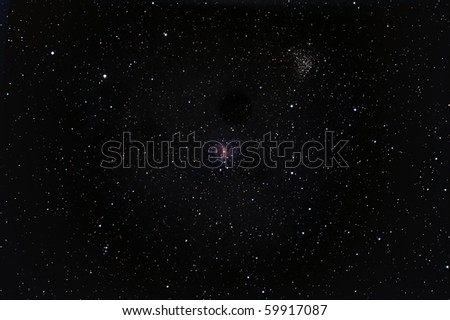Fireworks Galaxy and Cluster NGC 6939