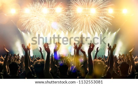 Fireworks in a concert arena #1132553081
