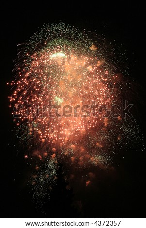 fireworks in moscow night sky, victory day celebration