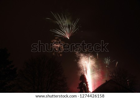 Fireworks in Silvester Night, Germany, Europe #1274426158
