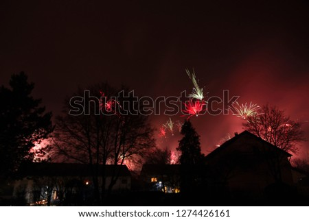 Fireworks in Silvester Night, Germany, Europe #1274426161