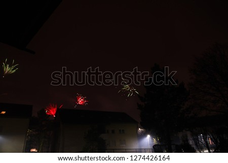 Fireworks in Silvester Night, Germany, Europe