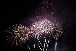 Fireworks in the new year festival