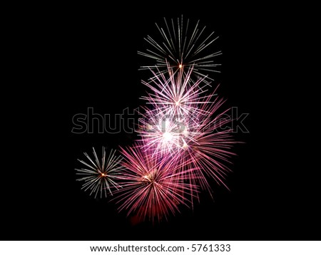 Fireworks in the night to celebrate a very special day - stock photo
