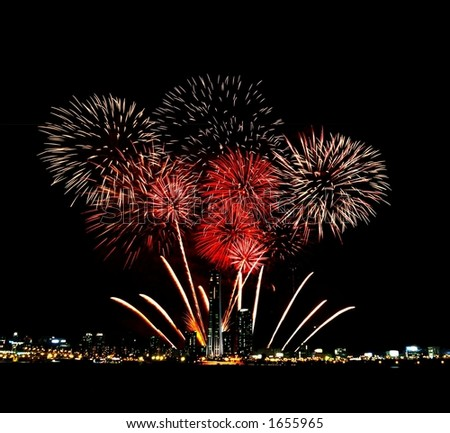 Fireworks in the Sky - stock photo