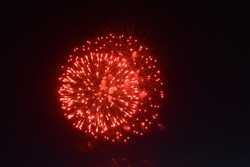 Fireworks in the sky, a festive show