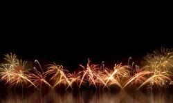 Fireworks light up the night sky beautifully.