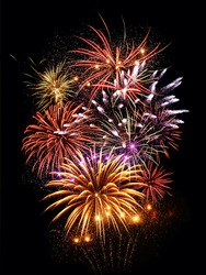 Fireworks light up the sky with big and bright display