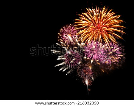 Fireworks light up the sky with dazzling display #216032050