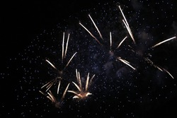 Fireworks mark the passage of the year