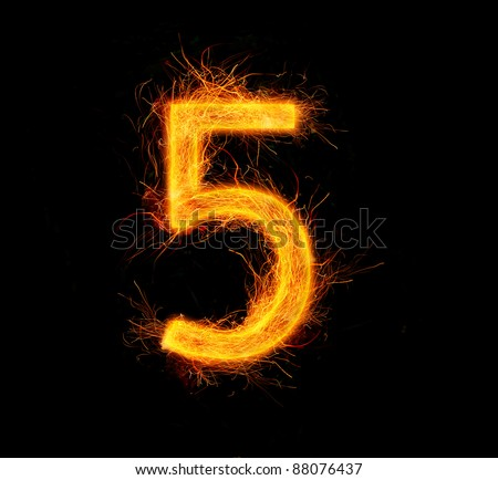 """Fireworks number """"5"""""""