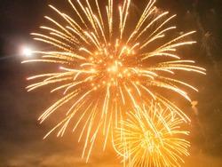 Fireworks of the midsummer in japan
