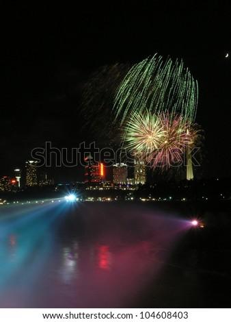 Fireworks over Niagara Falls, Ontario, Canada