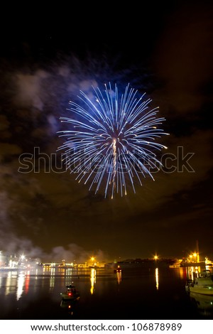 Fireworks over the Gulf of Mexico