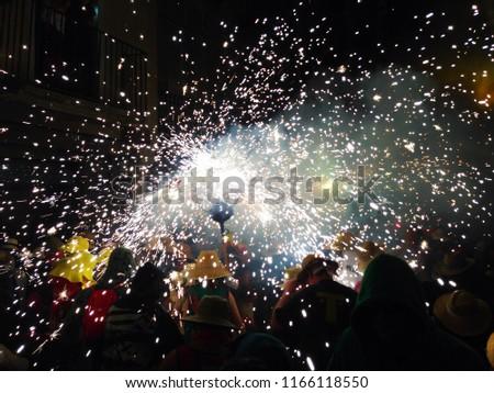 Fireworks parade