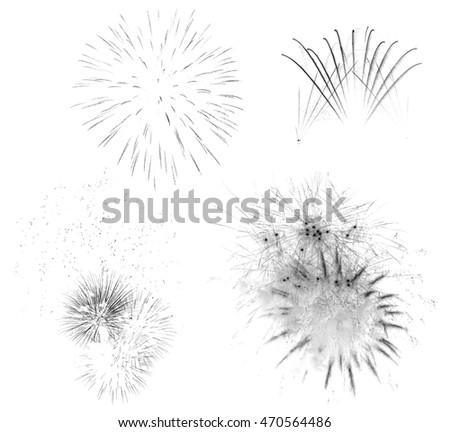 Fireworks Photoshop brushes stock photo
