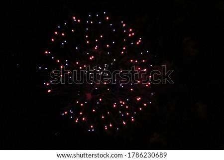 Fireworks show at the 4th of July celebration Stok fotoğraf ©