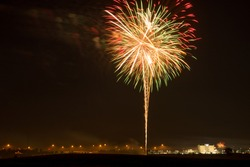Fireworks Show in Waterloo, Iowa captured during July 4th.