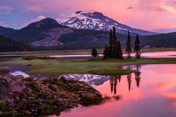 Firey sunrise at Sparks Lake