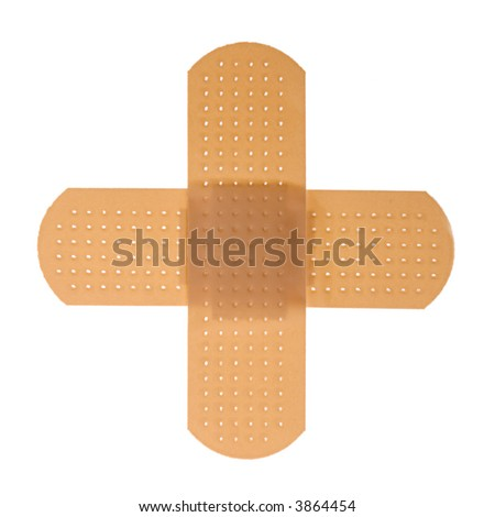 First-aid cross [with clippig path]