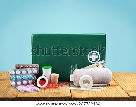 First Aid Kit, First Aid, Bandage. #267769136