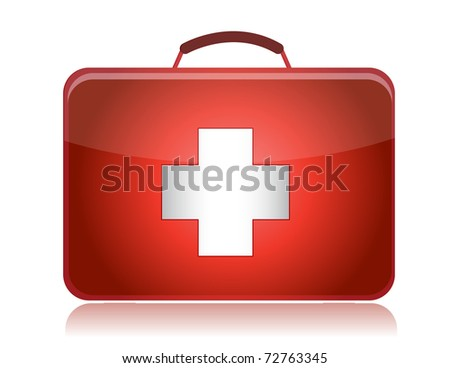 First aid kit illustration design isolated on white background