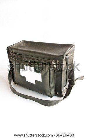 First aid kit isolated on white background