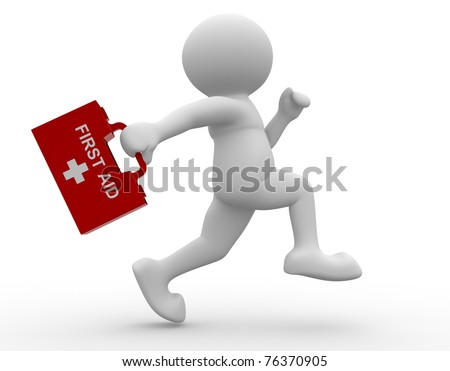 First-aid man- This is a 3d render illustration