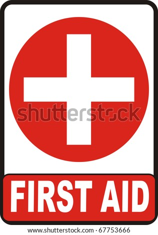 First Aid symbol isolated on white background