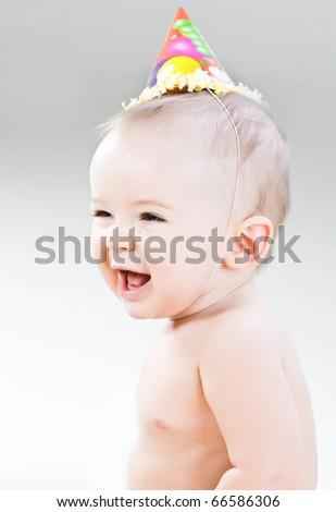 First birthday of cute baby boy