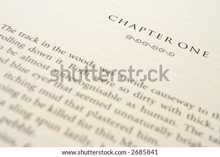 First chapter close up of a romance best seller