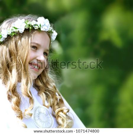 First Communion beautiful girl #1071474800
