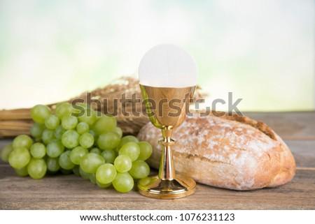 free photos holy communion bread wine chalice and cross avopix com