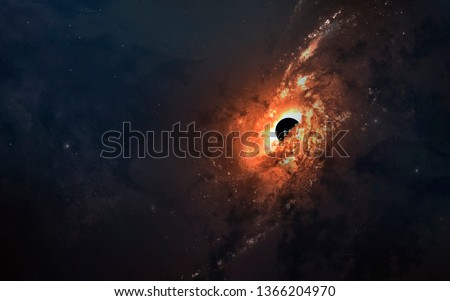 First image of black hole. Wormhole in deep space. Messier 87. Elements of this image furnished by NASA