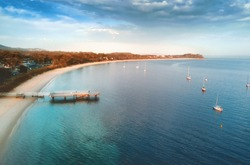 First light on Shoal Bay, Port Stephens, located in the Hunter region of NSW