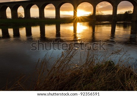First light - over the River Wharfe at the Arthington Viaduct