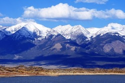 First Mountain Snow in Colorado, United States. Rocky Mountains.